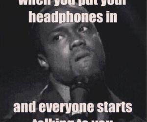 funny, headphones, and music image