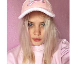 girl, pink, and icon image
