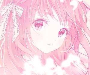 anime, pink, and girl image