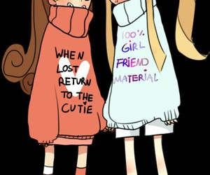gravity falls, mabel pines, and pacifica northwest image