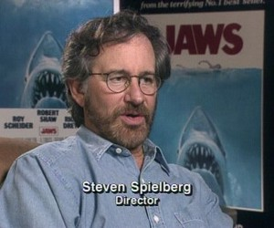 jaws, shark, and steven spielberg image