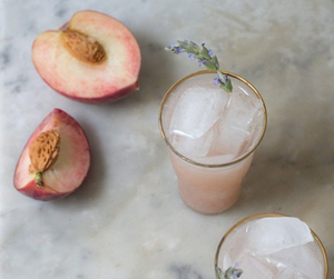 drink, peach, and ice image