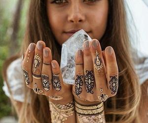 girl, summer, and crystal image