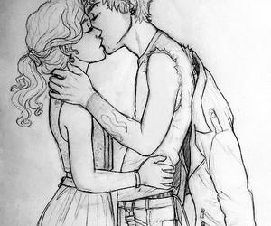 kiss, love, and drawing image