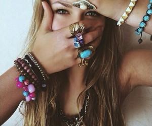 girl, rings, and hair image