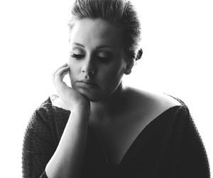 Adele, beautiful, and black and white image
