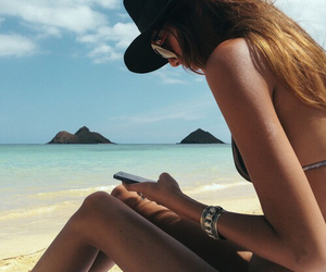 beach, scenery, and style image