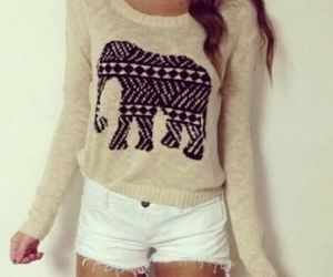 fashion, elephant, and outfit image