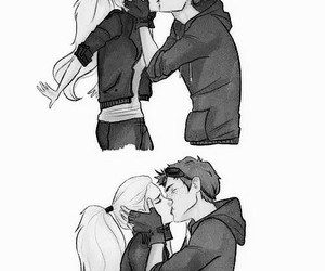 kiss, pencil, and love image
