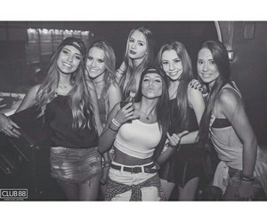 girls, black and white, and happiness image