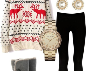 winter, outfit, and sweater image
