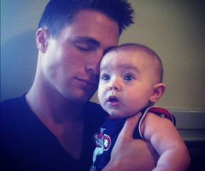 colton haynes, baby, and cute image