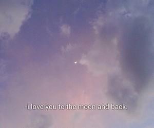 love, purple, and sky image