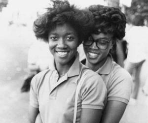 black, couple, and vintage image
