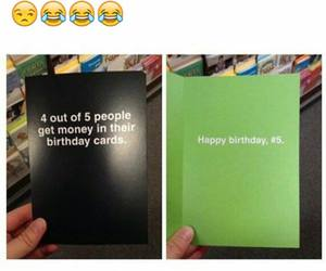 funny, birthday, and birthday card image
