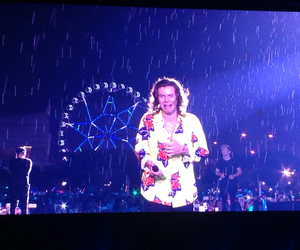 rain, 1d, and Harry Styles image
