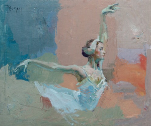 art, ballet, and oil image