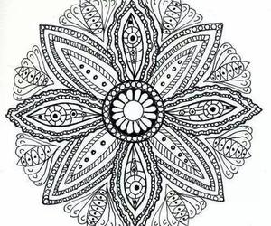 mandala, flowers, and overlay image