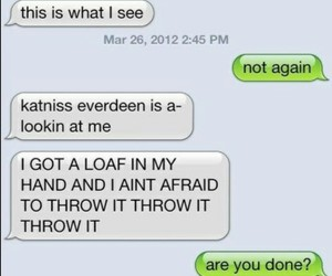 funny, texts, and the hunger games image