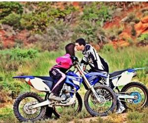 girl, kiss, and man image