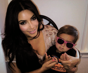 baby, kim kardashian, and boobs image