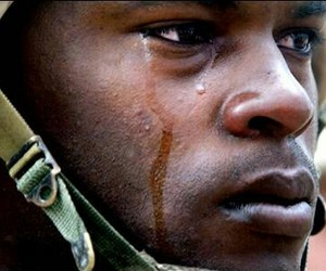 soldier, crying, and war image