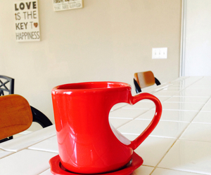 cup, heart, and red image