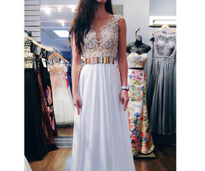 evening dresses, prom 2015, and white dresses image