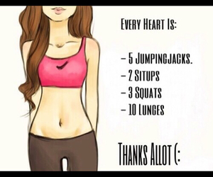 fitness, heart, and workout image