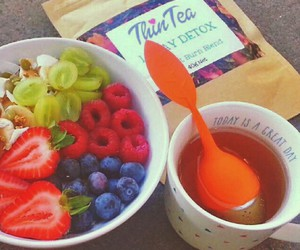 berries, tea, and fitness image