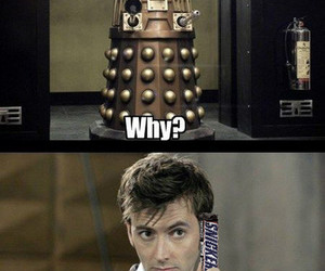 Dalek, doctor who, and snickers image