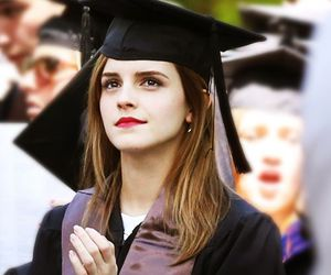 emma watson, graduation, and harry potter image