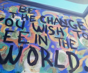 change, gandhi, and quote image
