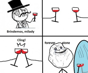 forever alone, funny, and lol image