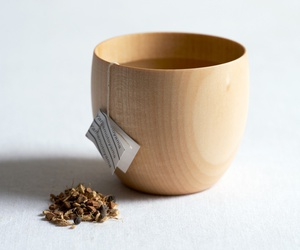 tea and wooden image