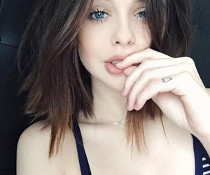 girl, hair, and eyes image