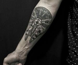 black, star wars, and tattoo image