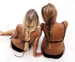 beach, chanel, and friendship image