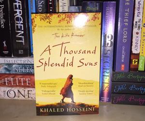 books, bookshelf, and khaled hosseini image