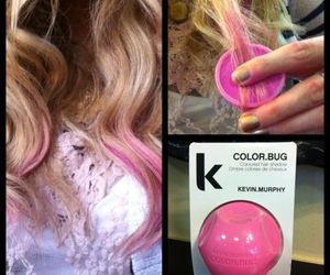 hair, pink, and color image
