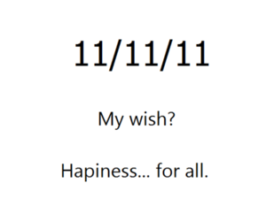 hapiness and 11 11 11 image