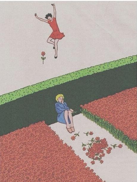 flowers, happy, and sad image