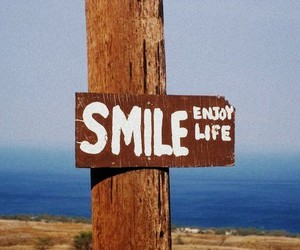 smile, life, and enjoy image