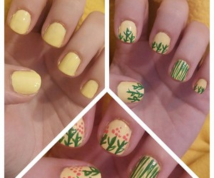 nails, floral nails, and flower nails image