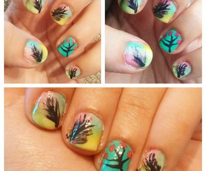 feather, nails, and flower nails image
