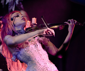 Emilie Autumn, violin, and pink hair image