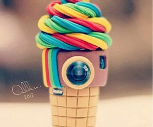 instagram, ice cream, and camera image