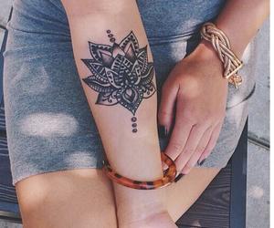 arm, blossom, and Tattoos image