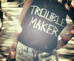 fashion, girl, and trouble maker image