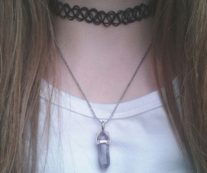 choker, girl, and grunge image